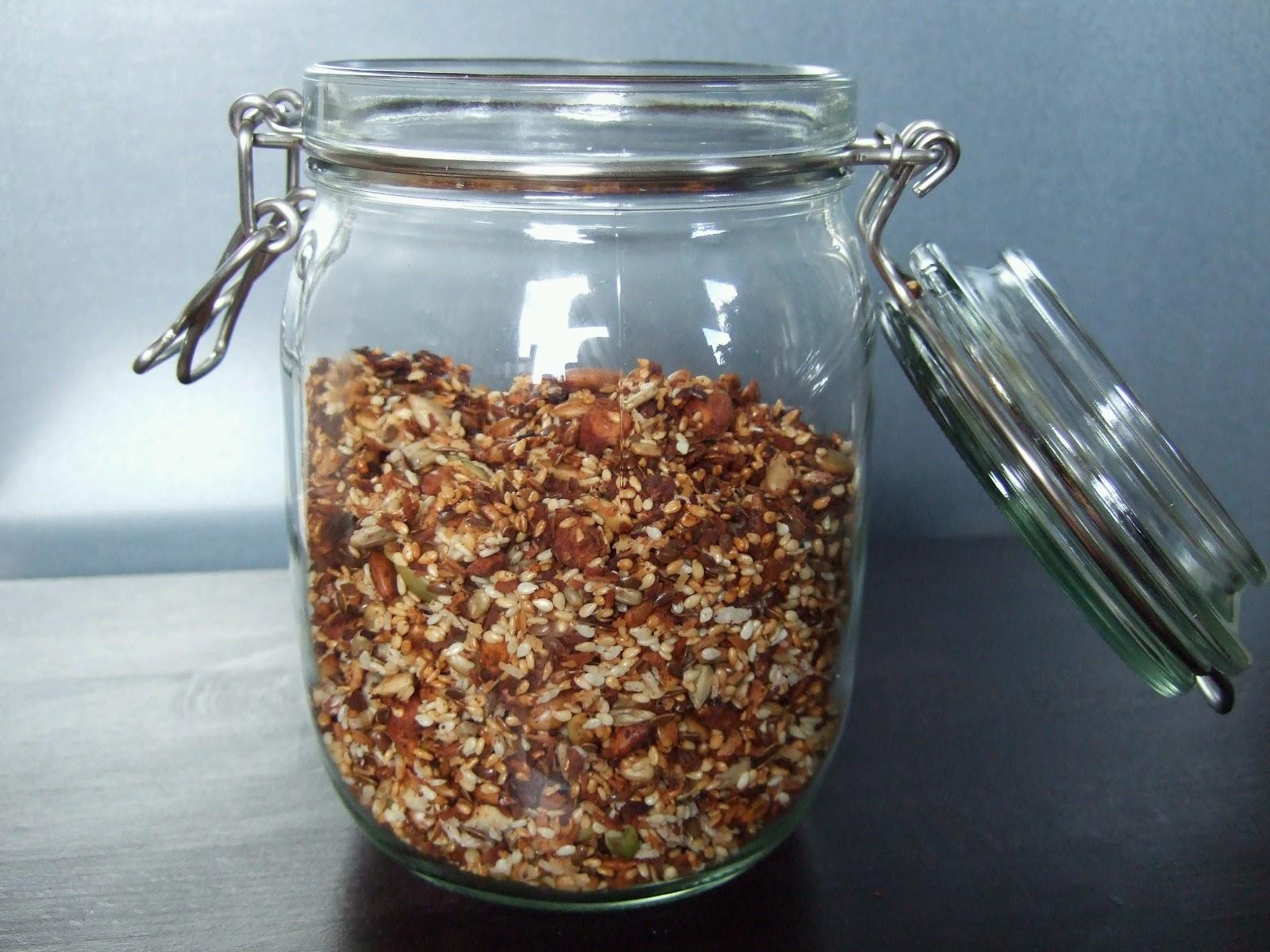 granola recept lchf