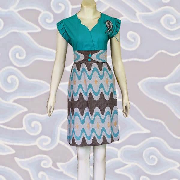 baju dress batik solo