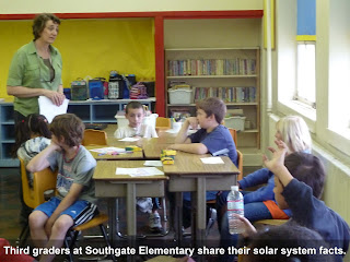 Third graders at Southgate Elementary share their solar system facts.