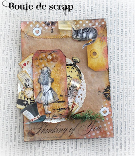 SRM Stickers Blog - Angélique Jarrier - #bag #gift #mixedmedia #alice