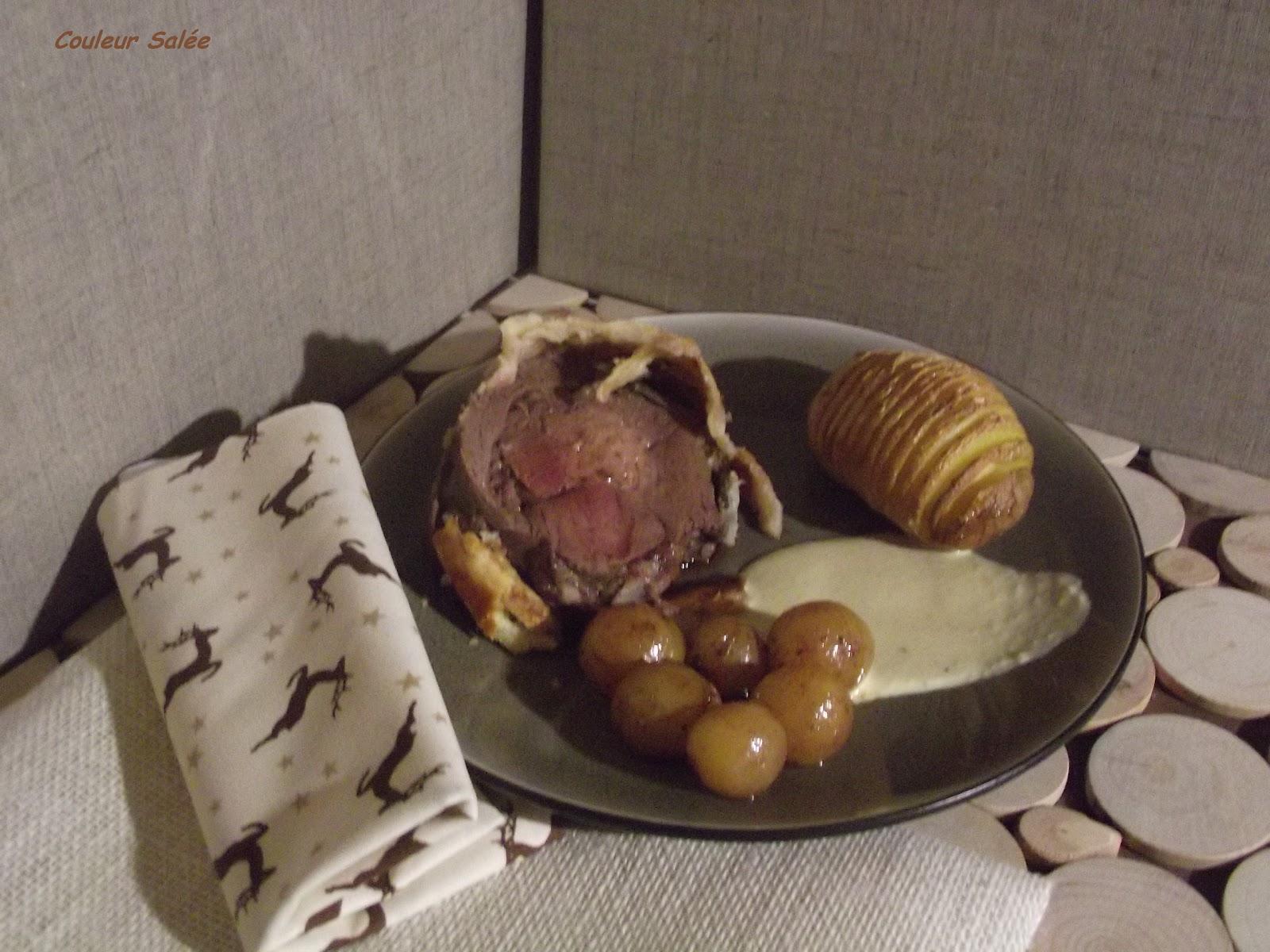 R ti de chevreuil en cro te sauce foie gras et ses pommes su doises blogs de cuisine - Marinade pour gibier ...
