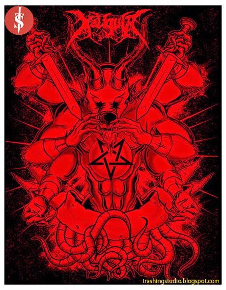 Artwork untuk band DeathCore lokal Bali
