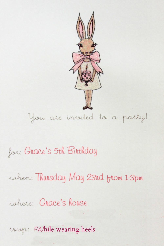 Great Bunny Invitations Birthday Photos Invitation Card Ideas - Bunny birthday invitation template