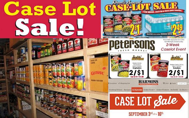 case lot sales, food storage deals, summer stock up sales, Deals to Meals