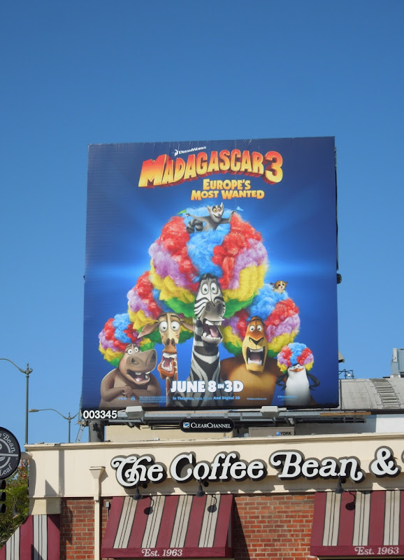 Madagascar 3 Europes Most Wanted billboard