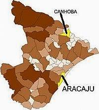Localização do município de Canhoba