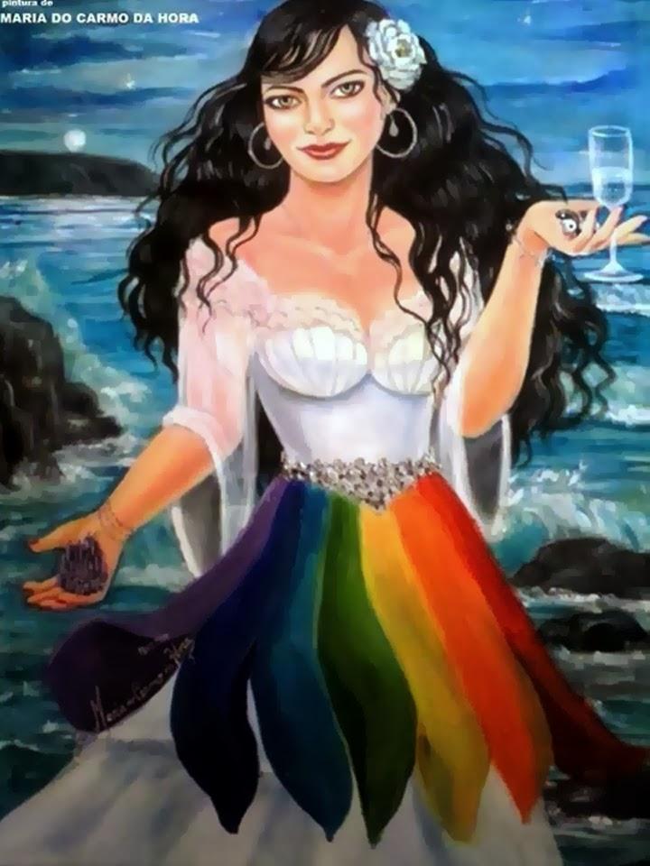 Esmeralda na beira da praia