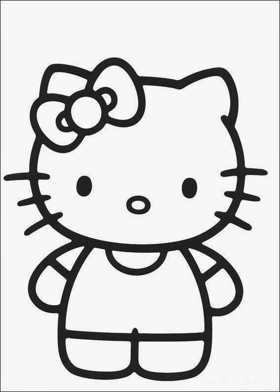 Gambar Mewarnai Hello Kitty Gambar Mewarnai Lucu