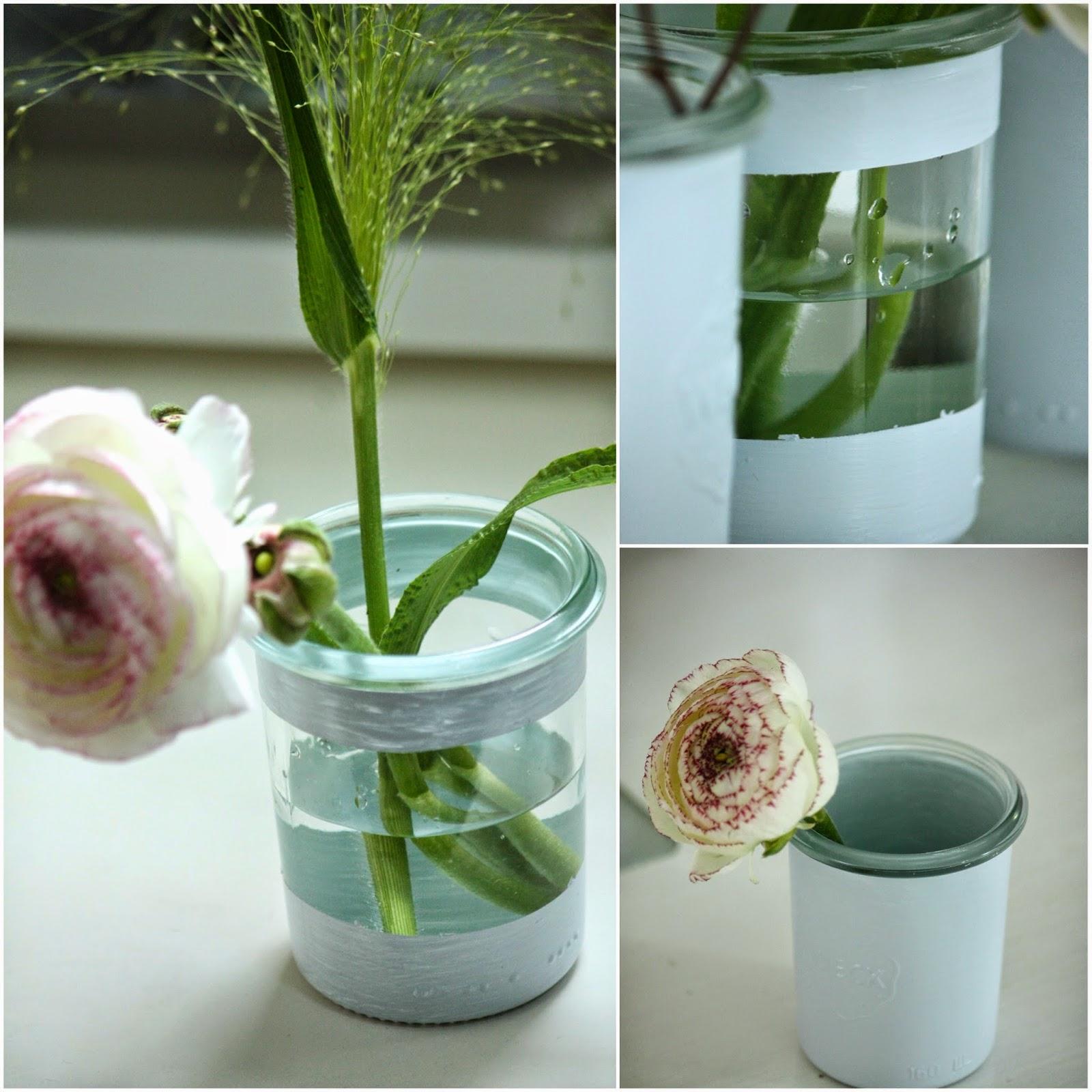 Un nouveau regard diy customiser vos pots en verre - Nettoyer pinceau peinture ...
