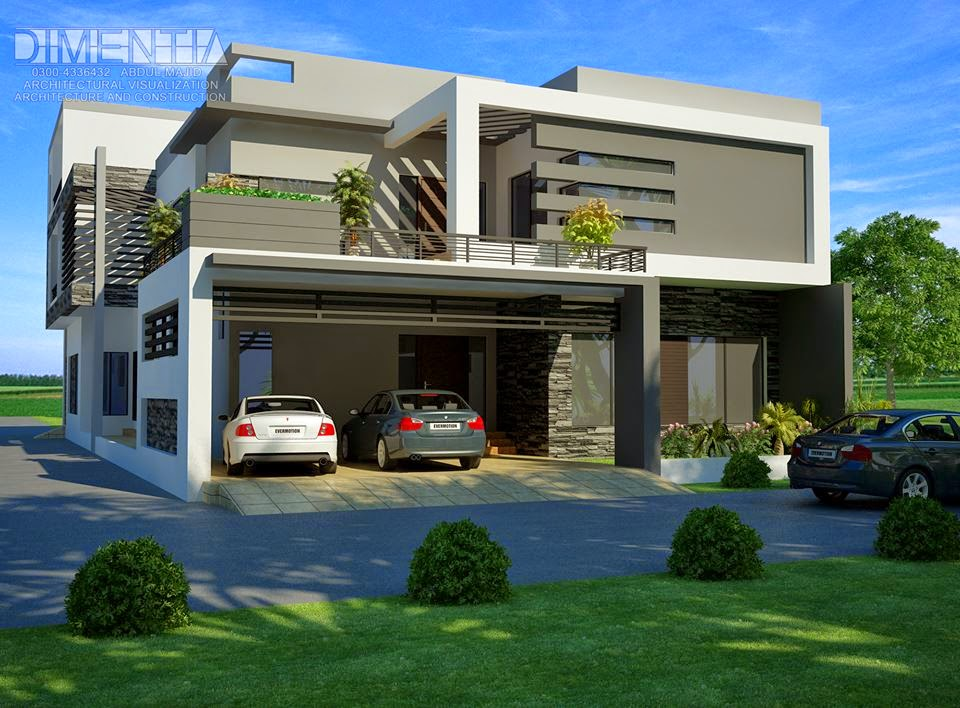 Front Elevation Of 1 Kanal House : Front elevation house photo joy studio design gallery