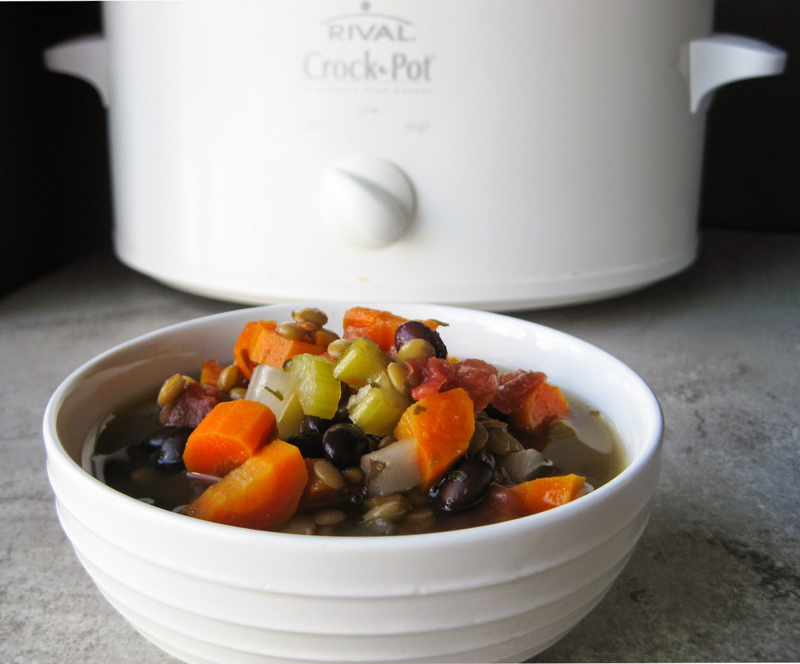 Slow Cooker Lentil Vegetable Soup Recipe