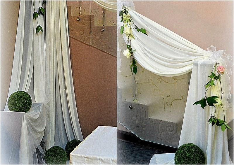 оформление свадьбы цветам и тканью