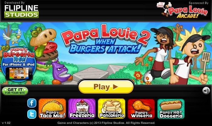 игры папа луи 3 нападение мороженое