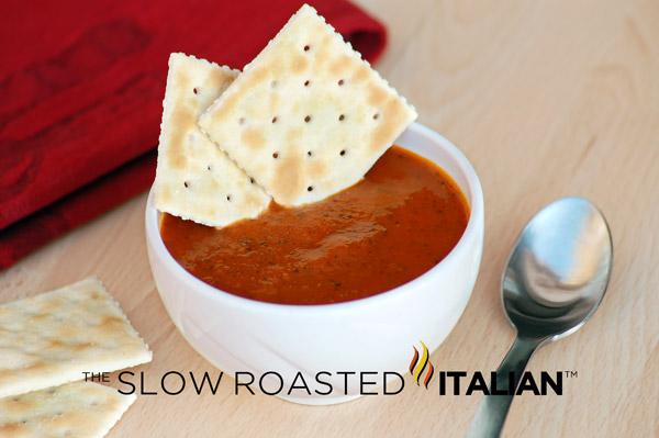 Roasted Tomato Basil Soup an amazing make ahead tomato soup, with deep ...