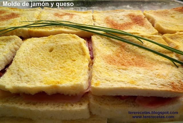 Molde de jamón y queso.