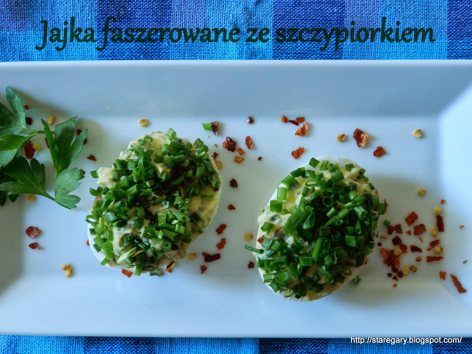Jaja faszerowane ze szczypiorkiem