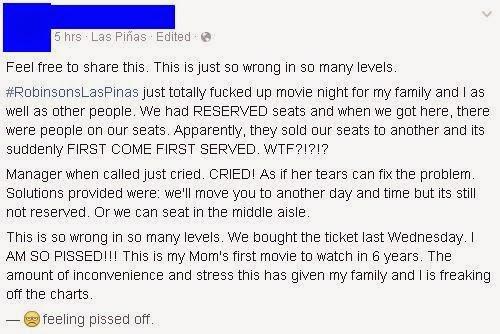 robinsons las pinas cinema seats