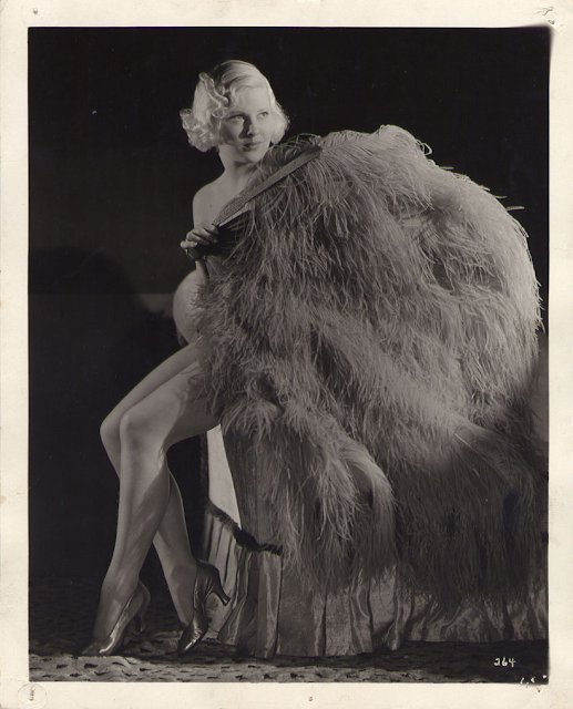 1930s burlesque fan dancer photograph