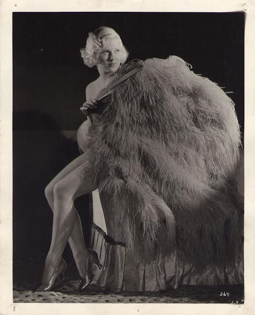 1930s burlesque fan dancer photograph