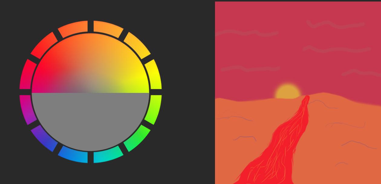 Germán Marín Alcón - Blog Art: Escenarios- Colores cálidos Colores fríos