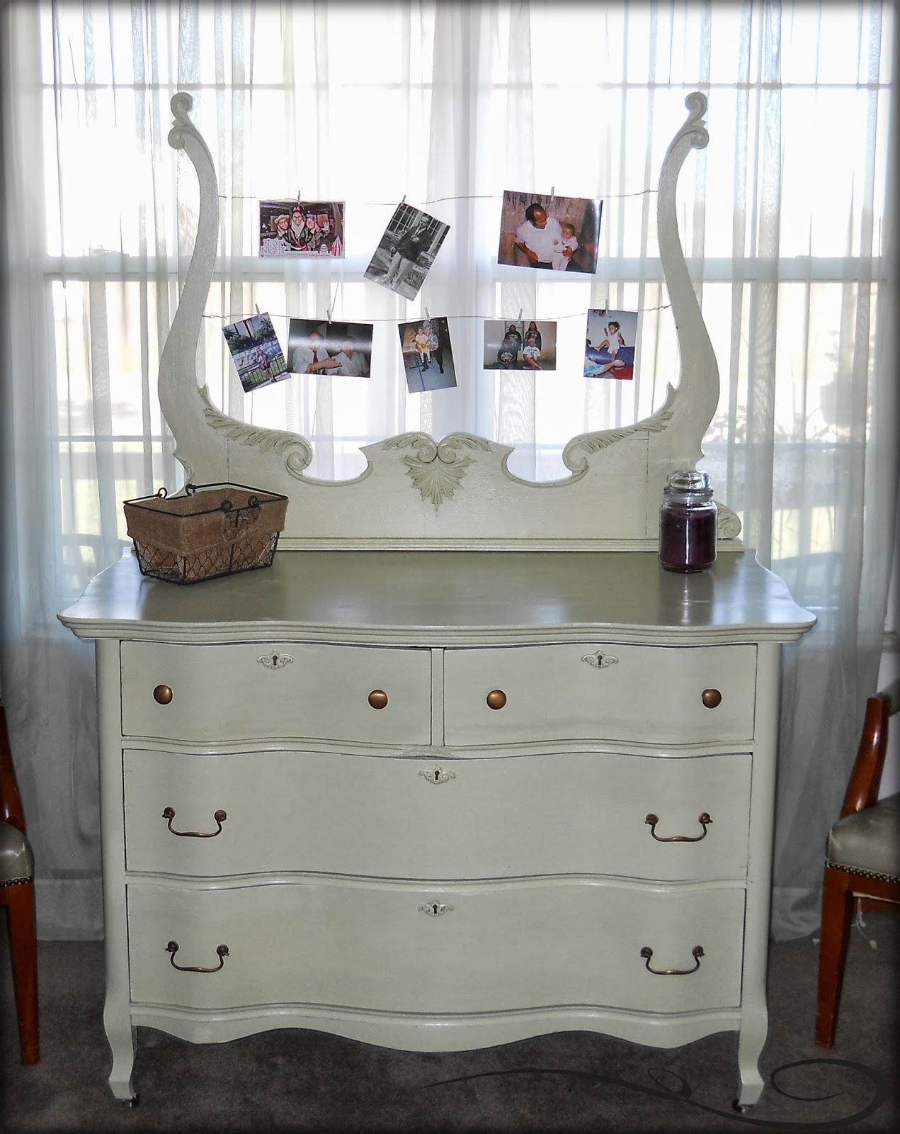 paw prints and paintbrushes antique bureau in sage green. Black Bedroom Furniture Sets. Home Design Ideas