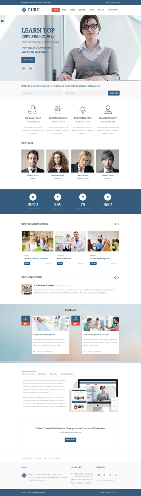 Learning Management WordPress Theme