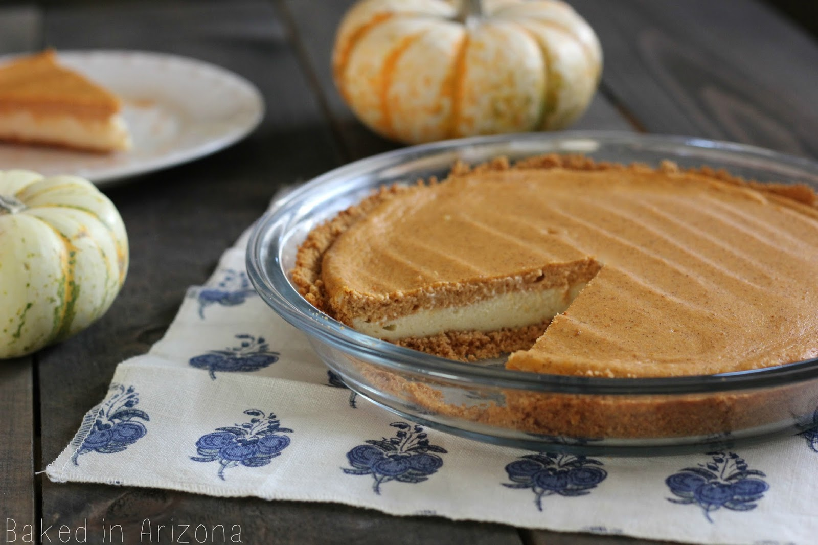 Pumpkin Cheesecake Pie | Baked in AZ