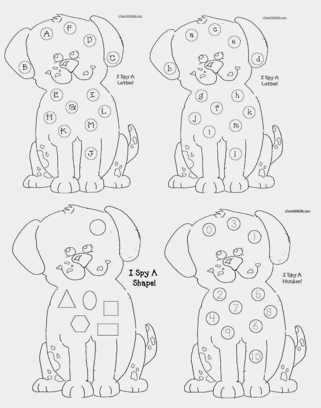 Classroom Freebies Common Core Fire Safety Puppy Packet – I Spy Worksheets