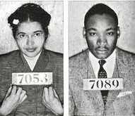 Rosa Parks and Martin Luther King Arrest Photos 1954