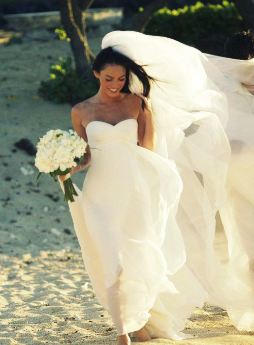 STYLE: MEGAN FOX IN WEDDING DRESS