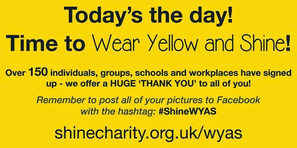 wear yellow and shine