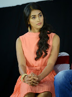 Pooja Hegde in Pink Skirt top at Oka Laila Kosam Pres Meet