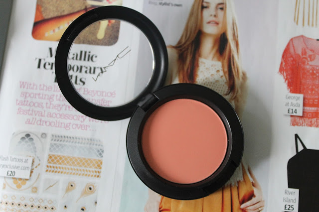 MAC Sheertone Blush in Peaches and False Lashes Extreme Black Mascara Beauty Blogger Review