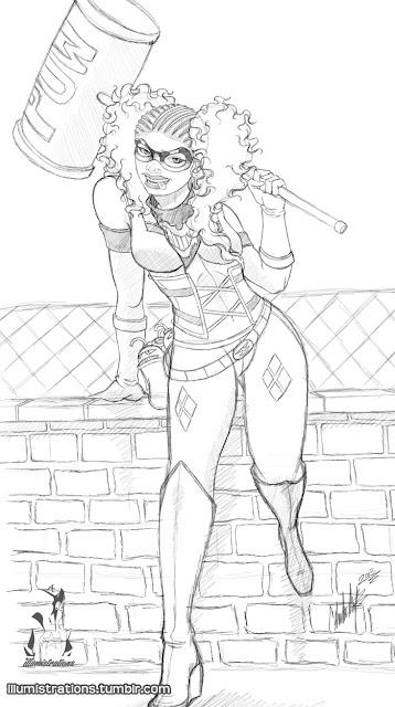 Harley Quinn black hero african american superheroes female heroes dc comics batman gotham sirens gotham girls