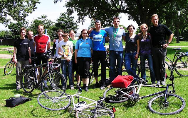 Gruppenfoto von der Fahrradtour