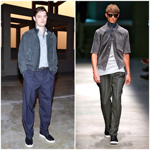 Sam Riley Ermenegildo Zegna Couture Spring Summer 2015 Milan Fashion Week MFW
