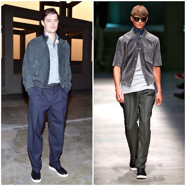 Sam Riley Ermenegildo Zegna Couture Spring Summer 2015 Milan Fashion Week MFW