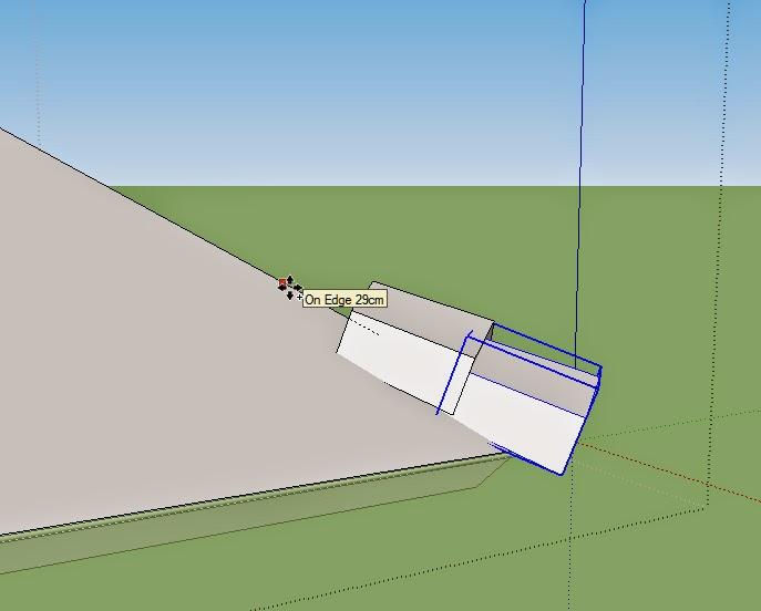 tutorial cara membuat bubungan pada sketchup
