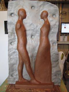 Jen Harmon Allen making a mold of a sculpture