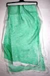 sciarpa di seta verde motivo merletto