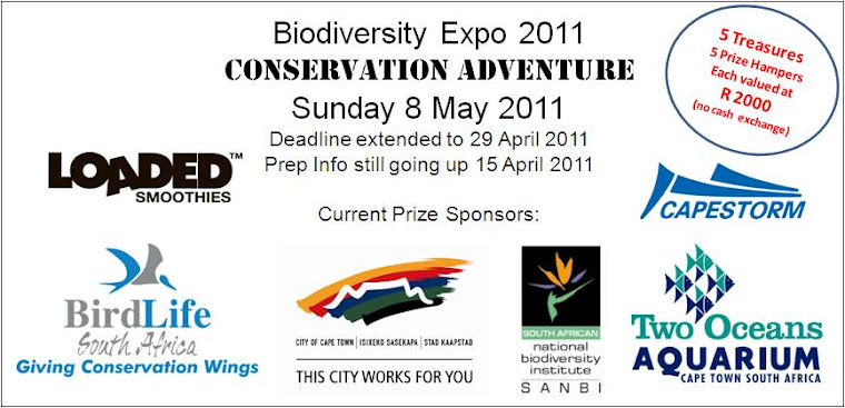 Current Sponsors for the Prizes for the Conservation Adventure on 8 May 2011