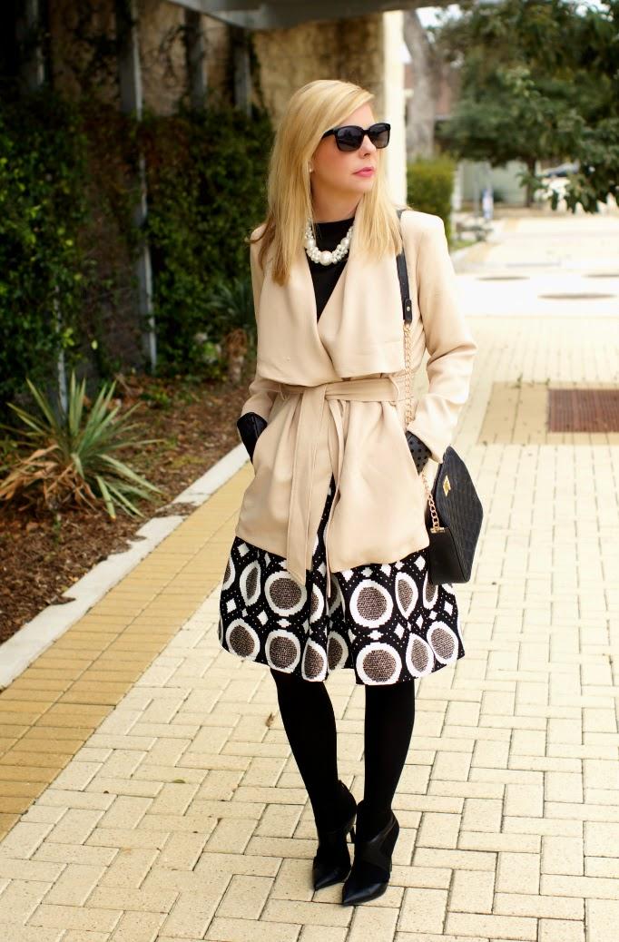 SheInside POla Dot Skirt