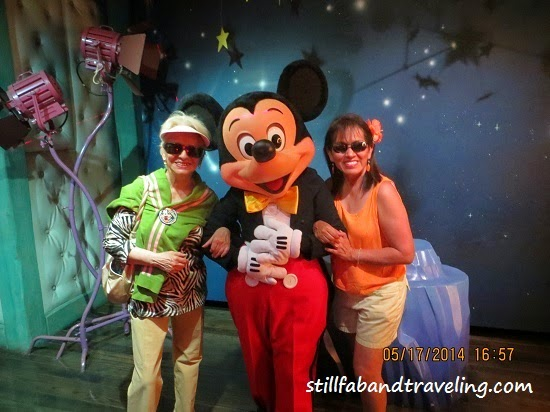 Photo taking with Mickey Mouse in his house in Disneyland