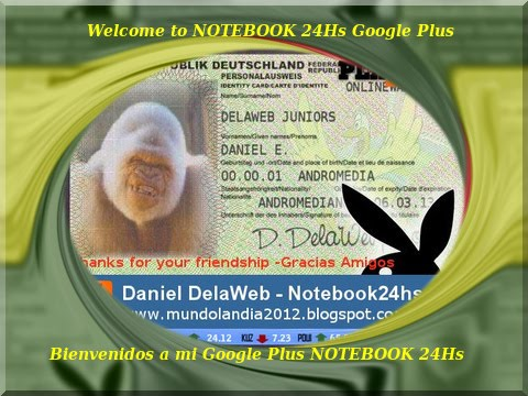 DANIEL - NOTEBOOK 24HS te espera en GOOGLE PLUS