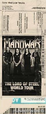 entrada de concierto de manowar