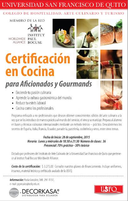 certificaci n en cocina para aficionados y gourmands 2015