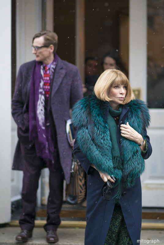 Anna Wintour and Hamish Bowles After Jason Wu New York Fashion Week 2013-2014 Fall Winter NYFW Street Style Shimpei Mito