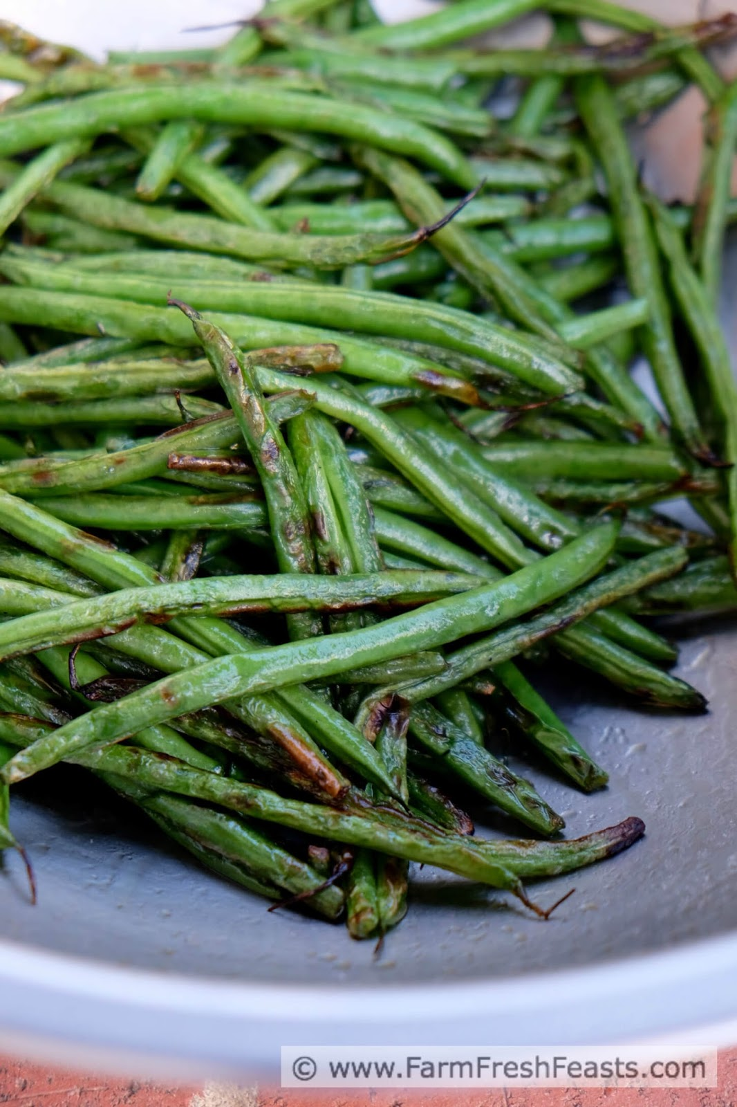how to cut fresh green beans