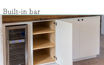 Built in Ikea bar cabinets