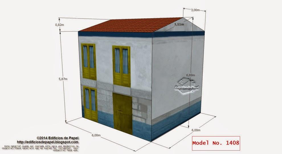 """Edificios de Papel - Modelo 1408 - Casa Marítima Verde. Serie """"Ourense"""" - """"Ourense"""" Series"""